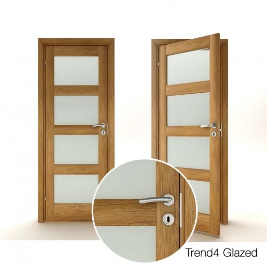 Trend 4 Oak Glazed - 330.58eur. Skandinaviško tipo, www.doorshop.lt